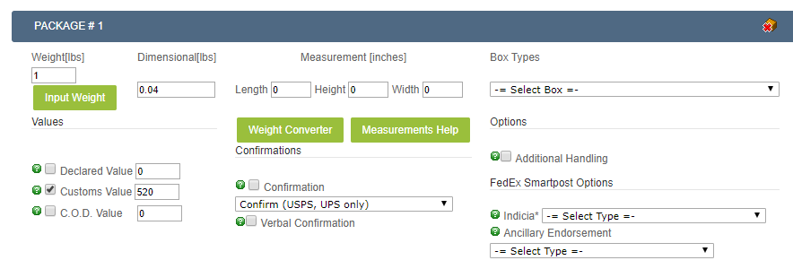 Process_Shipments_Screen_Package_Options